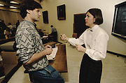 Elizabeth Warren teaches a course in Bankruptcy Lawat the University of Pennsylvania, 1990