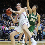 STORRS, CONNECTICUT- NOVEMBER 17: Natalie Butler #51 of the UConn Huskies rebounds while challenged by Natalie Chou #24 of the Baylor Bears during the UConn Huskies Vs Baylor Bears NCAA Women's Basketball game at Gampel Pavilion, on November 17th, 2016 in Storrs, Connecticut. (Photo by Tim Clayton/Corbis via Getty Images)
