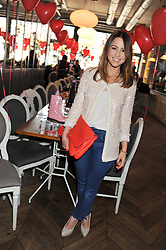 RACHEL STEVENS at a tea party to celebrate the launch of the limited edition Heart & Sole shoe collection by Step2wo in aid of the British Heart Foundation's Mending Broken Hearts Appeal, held at Aubaine on 2, Selfridge's, Oxford Street, London on 4th July 2012.