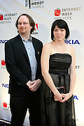 Chris Karwowski and Meagan Ganz at the 11th Annual Webby Awards  held at Cipriani's Downtown on June 10, 2008