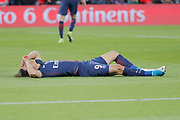 Edinson Roberto Paulo Cavani Gomez (psg) (El Matador) (El Botija) (Florestan) dribbled Remy VERCOUTRE (SM Caen) but missed to score it goal during the French Championship Ligue 1 football match between Paris Saint-Germain and SM Caen on May 20, 2017 at Parc des Princes stadium in Paris, France - Photo Stephane Allaman / ProSportsImages / DPPI