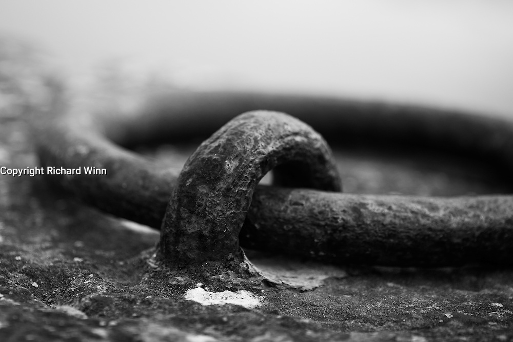 Closeup of a mooring ring on the side of Bridgwater Quay.