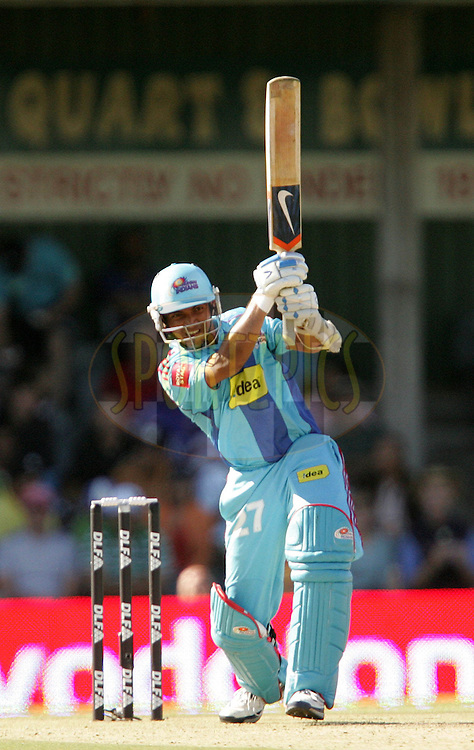 EAST LONDON, SOUTH AFRICA - 1 May 2009. Ajinkya Rhane during the  IPL Season 2 match between the Mumbai Indians and the Kolkata Knight Riders held at Buffalo Park in East London. South Africa..