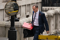 © Licensed to London News Pictures. 06/11/2018. London, UK. Secretary of State for Exiting the European Dominic Raab arriving in Downing Street to attend a Cabinet meeting this morning. Photo credit : Tom Nicholson/LNP