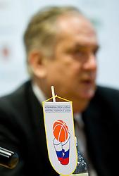 Coach Serbian Bozidar Maljkovic at press conference of new head coach of Slovenian national basketball team, on December 21, 2010 in Hotel Turist, Ljubljana, Slovenia. (Photo By Vid Ponikvar / Sportida.com)