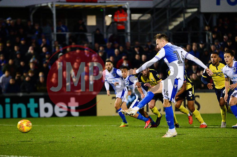 Chris Lines of Bristol Rovers has his penalty saved  - Mandatory by-line: Dougie Allward/JMP - 17/11/2018 - FOOTBALL - Memorial Stadium - Bristol, England - Bristol Rovers v Scunthorpe United - Sky Bet League One