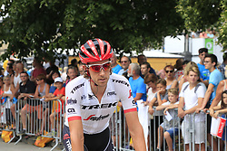 Koen De Kort (NED) Trek-Segafredo heads to sign on before the start of Stage 4 of the 104th edition of the Tour de France 2017, running 183km from La Mure to Serre Chevalier, France. 19th July 2017.<br /> Picture: Eoin Clarke | Cyclefile<br /> <br /> All photos usage must carry mandatory copyright credit (© Cyclefile | Eoin Clarke)