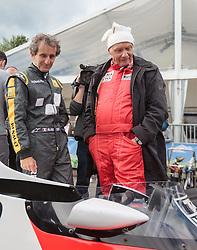 20.06.2015, Red Bull Ring, Spielberg, AUT, FIA, Formel 1, Grosser Preis von Österreich, Legenden Rennen, im Bild v.l.: Niki Lauda (AUT) und Alain Prost (FRA) // during the Legend Race of the Austrian Formula One Grand Prix at the Red Bull Ring in Spielberg, Austria, 2015/06/20, EXPA Pictures © 2015, PhotoCredit: EXPA/ JFK