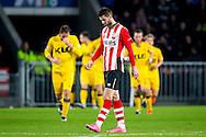 EINDHOVEN, PSV - Roda JC, voetbal, Eredivisie seizoen 2015-2016, 12-12-2015, Philips Stadion, teleurstelling bij PSV speler Gaston Pereiro (M) na de 0-1 voor Roda.