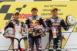 17.07.2010, Sachsenring, GER, MotoGP, Deutschland Grand Prix 2010, im Bild Koyama, Marquez, Cortese, EXPA Pictures © 2010, PhotoCredit: EXPA/ InsideFoto/ Semedia +++ ATTENTION - FOR AUSTRIA AND SLOVENIA CLIENT ONLY +++ / SPORTIDA PHOTO AGENCY