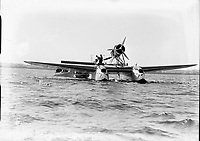 Italian Air Armada at Derry. Pictures of Aircraft - Savoia Marchetti S-55x Seaplane, 03 July 1933. <br /> (Part of the Independent Newspapers Ireland/NLI Collection)