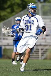 06 May 2007: Duke Blue Devils midfielder Bo Carrington (31) during a 19-6 victory over the Air Force Falcons at Koskinen Stadium in Durham, NC.