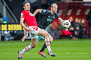 ALKMAAR - 06-11-2016, AZ - Ajax, AFAS Stadion, 2-2, AZ speler Ben Rienstra, Ajax speler Davy Klaassen