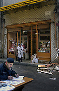 ISTANBUL, TURKEY - 22-11-2003: Aftermath of the Istanbul bombings on November 20. --Officials and citizens have been working around the clock to clean up the debris at the bombing sites--