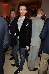MARK-FRANCIS VANDELLI at a reception hosted by The Rake Magazine and Claridge's to celebrate London Collections 2015 held at Claridge's, Brook Street, London on 8th January 2015.