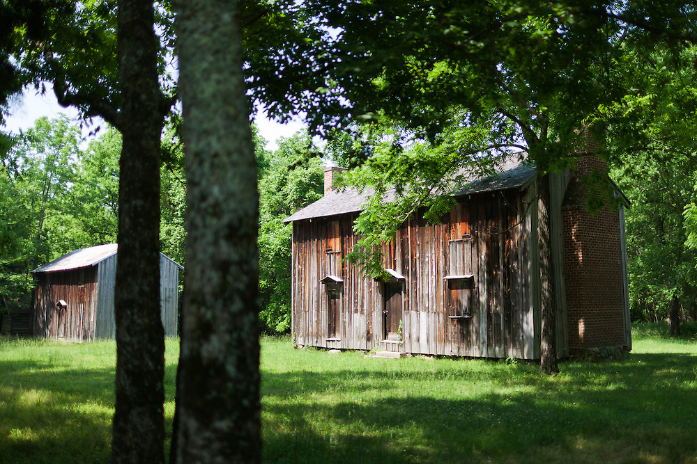 Slave quarters at Horton Grove, part of Historic Stagville, where approximately 900 slaves worked on the plantation of the Bennehan-Cameron family North of Durham.