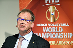 30-03-2015 NED: FIVB Drawing WCH Beach Volleyball, The Hague<br /> The Drawing of Lots for the FIVB Beach Volleyball World Championships The Netherlands 2015 will take place at the Mauritshuis art museum / Joep van Iersel