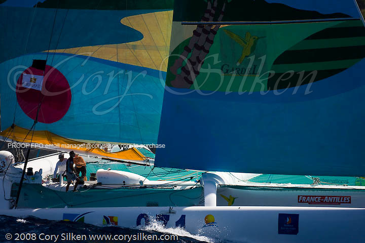Region Guadaloupe sailing race 3 at Antigua Sailing Week.
