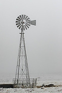 A frosty windmill near Burns, Wyoming, on Friday, Feb. 9, 2018.