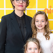NLD/Amsterdam/20180325 - Nickelodeon Kid's Choice Awards 2018, Sanne wallis de Vries en kinderen Teuntje, Cato