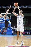 DESCRIZIONE : Riga Latvia Lettonia Eurobasket Women 2009 final 5th-6th Place Italia Grecia Italy Greece<br /> GIOCATORE : Simoina Ballardini<br /> SQUADRA : Italia Italy<br /> EVENTO : Eurobasket Women 2009 Campionati Europei Donne 2009 <br /> GARA : Italia Grecia Italy Greece<br /> DATA : 20/06/2009 <br /> CATEGORIA : tiro<br /> SPORT : Pallacanestro <br /> AUTORE : Agenzia Ciamillo-Castoria/E.Castoria<br /> Galleria : Eurobasket Women 2009 <br /> Fotonotizia : Riga Latvia Lettonia Eurobasket Women 2009 final 5th-6th Place Italia Grecia Italy Greece<br /> Predefinita :