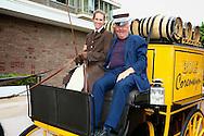 AMSTERDAM - In de tuin van het Hilton Hotel Amsterdam is de jaarlijkse haringparty weer aan de gang. Met hier op de foto  Harry Mens. FOTO LEVIN DEN BOER - PERSFOTO.NU