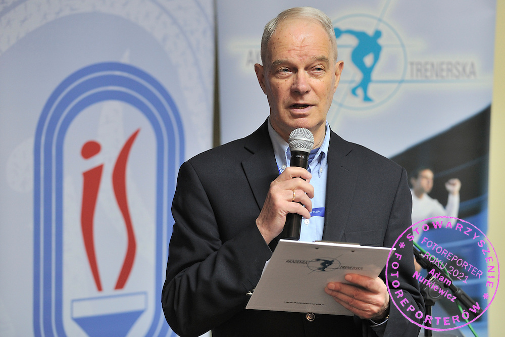 prof. dr hab. Szymon Krasicki from AWF Cracow during conference of olympic trainers and coaches at COS (Centrlany Osrodek Sportowy) in Spala on May 13, 2014.<br /> <br /> Poland, Spala, May 13, 2014<br /> <br /> Picture also available in RAW (NEF) or TIFF format on special request.<br /> <br /> For editorial use only. Any commercial or promotional use requires permission.<br /> <br /> Mandatory credit:<br /> Photo by &copy; Adam Nurkiewicz / Mediasport