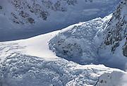 Alaska Range, Aerial Photo, Winter, Glacier, Crevasse, Ice, Snow, Mount McKinley, Denali National Park, Alaska