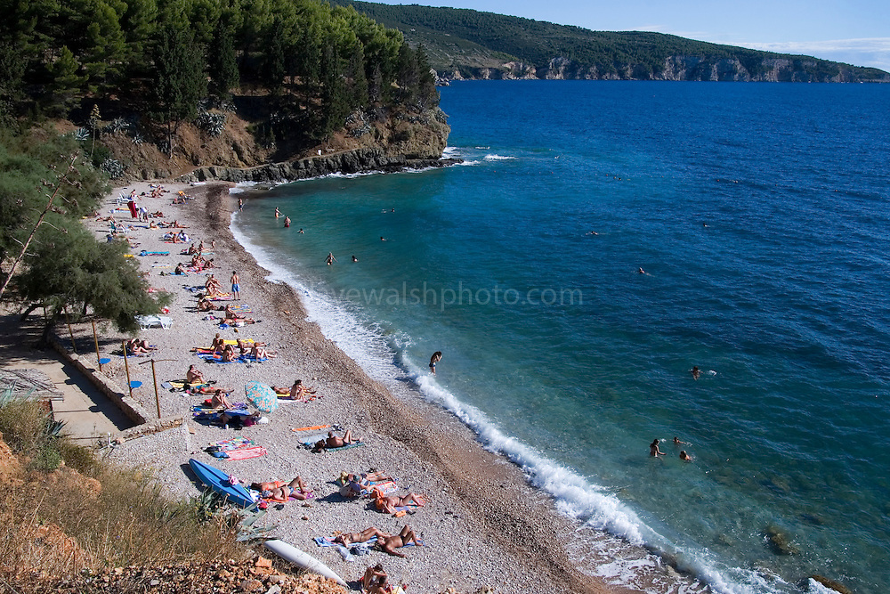 The beach at Komiza, Vis, Croatia..