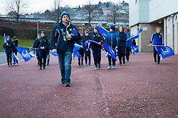 Leinster fans arrive at the stadium<br /> <br /> Photographer Simon King/Replay Images<br /> <br /> Guinness PRO14 Round 19 - Ospreys v Leinster - Saturday 24th March 2018 - Liberty Stadium - Swansea<br /> <br /> World Copyright © Replay Images . All rights reserved. info@replayimages.co.uk - http://replayimages.co.uk