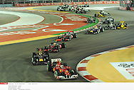 en nocturne .. *** Local Caption *** alonso (fernando) - (esp) - ..vettel (sebastian) - (ger) -..hamilton (lewis) - (gbr) -