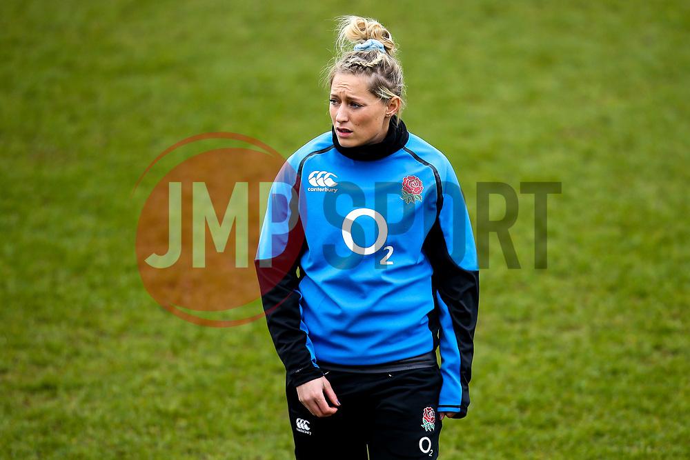 Natasha Hunt of England Women - Mandatory by-line: Robbie Stephenson/JMP - 10/02/2019 - RUGBY - Castle Park - Doncaster, England - England Women v France Women - Women's Six Nations