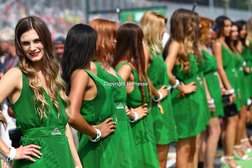 &copy; Photo4 / LaPresse<br /> 04/09/2016 Monza, Italy<br /> Sport <br /> Grand Prix Formula One Italia 2016<br /> In the pic: Grid Girls