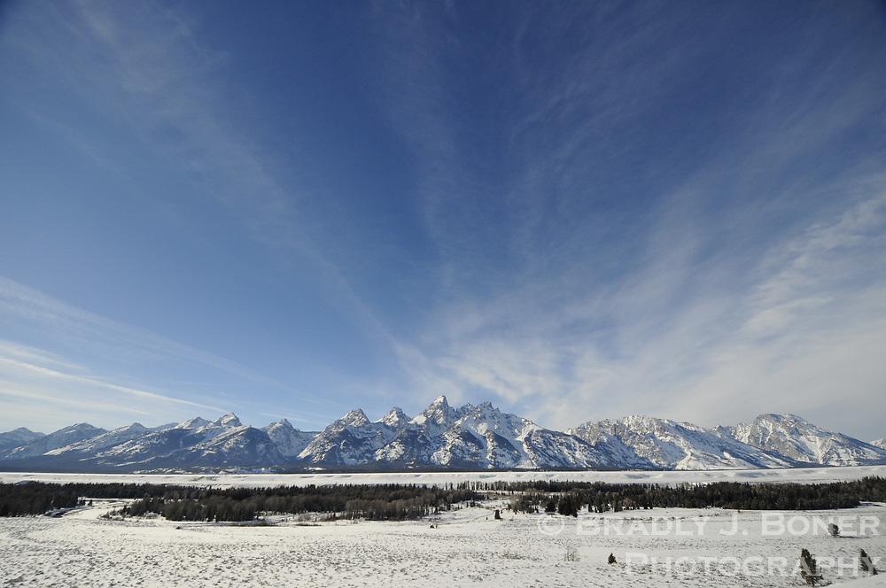 Teton Range in winter