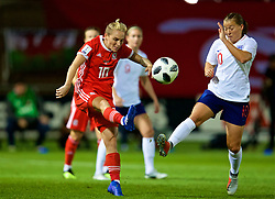 NEWPORT, WALES - Friday, August 31, 2018: Wales' Jessica Fishlock during the FIFA Women's World Cup 2019 Qualifying Round Group 1 match between Wales and England at Rodney Parade. (Pic by David Rawcliffe/Propaganda)