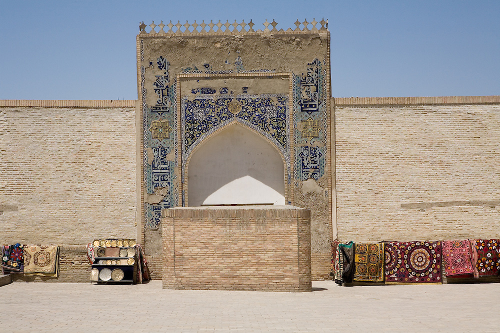 Reception hall in remains of the Ark complex, Bukhara