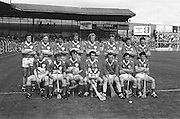 All Ireland Senior Hurling Championship Final,.Galway Vs Offaly,Offaly 2-11, Galway 1-12,.01.09.1985, 09.01.1985, 1st September 1985,.01091985AISHCF,.Back row, Pat Fleury captain, Joachim Kelly, Tom Conneely, Eugene Coughlan, Pat Delaney, Joe Dooley, Padraig Horan, Aidan Fogarty, Front row, Danny Owens, Brendan Bermingham, Pat Cleary, Ger Coughlan, Jim Troy, Mark Corrigan, Paddy Corrigan, .