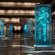 February 12, 2015 - New York, NY : Artist Dustin Yellin's 'Psychogeographies,' a set of 15 sculptural collages/paintings, are on display in the David H. Koch Theater at Lincoln Center. Yellin made the works for New York City Ballet's 2015 Art Series. CREDIT: Karsten Moran for The New York Times