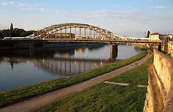 POLAND KRAKOW AUG96 - Bridge across the river Wisla, Most Pilsodskiego.<br /> <br /> jre/Photo by Jiri Rezac<br /> <br /> &copy; Jiri Rezac 1996<br /> <br /> Tel:   +44 (0) 7050 110 417<br /> Email: info@jirirezac.com<br /> Web:   www.jirirezac.com