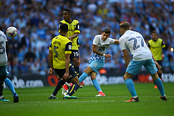 Ruben Lameiras of Coventry City shot is blocked - Photo mandatory by-line: Jason Brown/JMP -  02/04//2017 - SPORT - Football - London - Wembley Stadium - Coventry City v Oxford United - Checkatrade Trophy Final