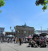 Berlin, GERMANY. General Views,  GV's . of the  Brandenburg gate on May Day 2011 .  Saturday  01/05/2011 [Mandatory Credit; Peter Spurrier/Intersport-images] Street Photos