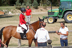 Mathy Laura, BEL, Penta<br /> European Championship Children, Juniors, Young Riders - Fontainebleau 1028<br /> © Hippo Foto - Dirk Caremans<br /> Mathy Laura, BEL, Penta