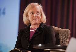HP CEO Meg Whitman addresses the 2014 Global Technology U.S. Vendor Summit at the Fairmont Hotel in San Jose California.