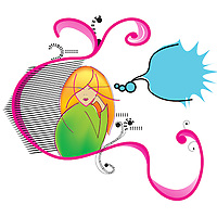 Illustration of a gir thinking out loud with a cartoon bubble
