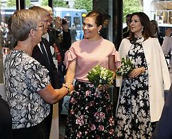 May 30, 2017 - Stockholm, Sweden - Crown princess Victoria, crown princess Mary..Official visit from Denmark, Visit at Illums Bolighus, Stockholm, 2017-05-30..(c) Patrik C Österberg / IBL....Officiellt besök frÃ¥n Kronprinsparet av Danmark, besök pÃ¥ Illums Bolighus, Stockholm, 2017-05-30 (Credit Image: © Patrik ÖSterberg/IBL via ZUMA Press)