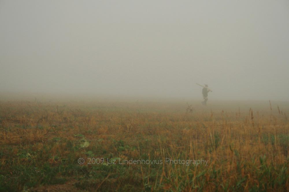 Solitary Man in Field