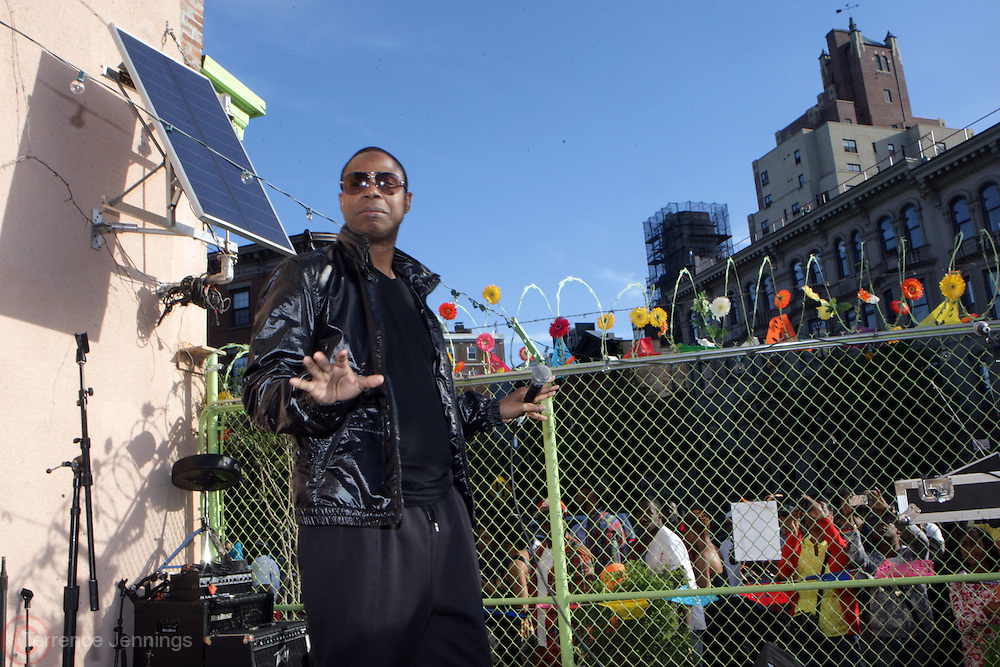 15 May 2010- Brooklyn, NY-Doug E. Fresh performs at Havana Outpost Block Party featuring performances by Bajah and the Dry Eye Crew held at Habana Outpost on May 15, 2010 in Brooklyn, NY.