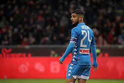 January 26, 2019 - Milan, Milan, Italy - Lorenzo Insigne #24 of SSC Napoli during the serie A match between AC Milan and SSC Napoli at Stadio Giuseppe Meazza on January 26, 2018 in Milan, Italy. (Credit Image: © Giuseppe Cottini/NurPhoto via ZUMA Press)