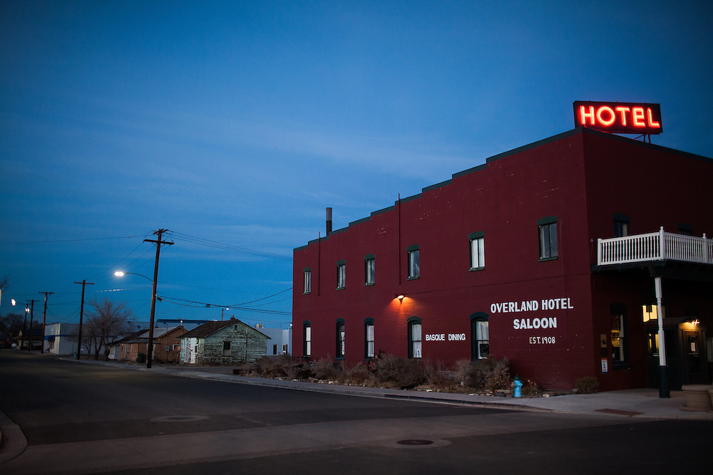 The historic Overland Hotel in Fallon, Nevada, February 4, 2014.