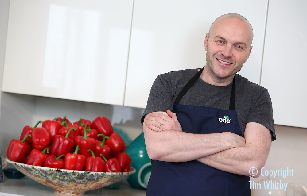 BATTERSEA, ENGLAND - FEBRUARY 03:  Chef Simon Rimmer at a Blogger Breakfast and cooking demonstration for The One brand on February 3, 2012 in Battersea, England.  (Photo by Tim Whitby/Getty Images)